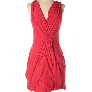 Cynthia Steffe Red Drape Sleeveless Mini Dress
